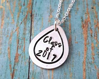 Graduation Necklace - Graduation Gift - Graduation Jewelry - Graduation - Graduate - Class of 2017 - High School Graduation - College Grad