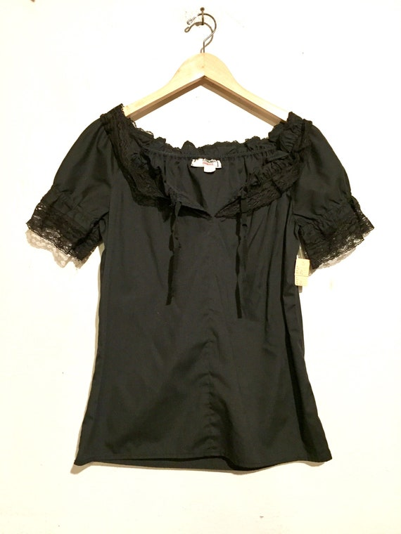 70s Ruffle Neck Blouse