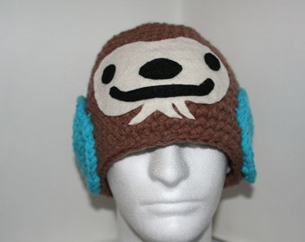 Sasquatch hat - Unique crochet character hat - fun and super cute
