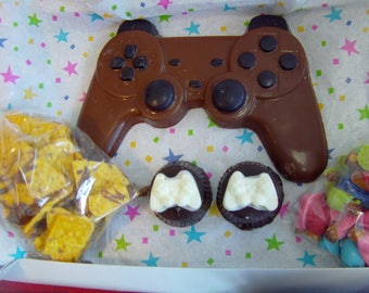 Ultimate Gamer Gift Box-Birthdays/Anniversaries/Father's Day/Chocolate Candy Controller/Truffles/Choritos/Blissful Bites