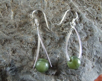 Sterling Silver Connemara  Marble Earrings