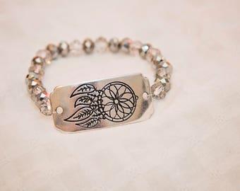 Dreamcatcher charm, dreamcatcher bracelet, boho stacked jewelry, stack bracelet, boho bracelet, festival wear, dreamcatcher jewelry, beaded