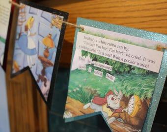 Alice in Wonderland Banner and Garland Set, Storybook