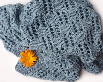 Knit merino wool baby blanket, Car Seat Blanket, Pram Blanket, Knitted wool Baby Blanket, Blanket, Baby Shower Gift