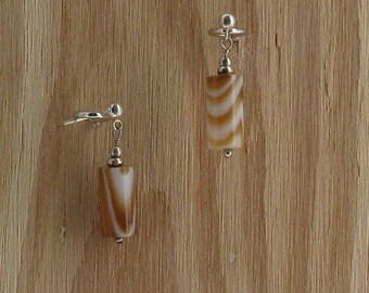 Brown Sardonyx earrings