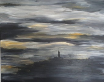 "Lighthouse 50x40"" Original acrylic painting on canvas"