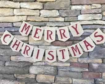 Christmas Banner, Christmas Garland, Christmas decor, Christmas decoration, Christmas photo prop, Christmas Bunting, Merry Christmas banner