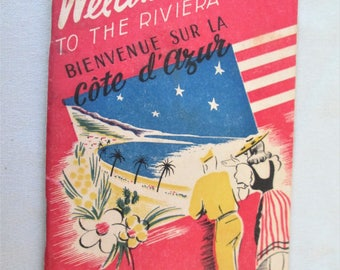 1945 WW2 Advertising Soldier On Leave Guide  Welcome To The Riviera Introduction Book Guide