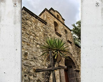 St. Stephens - Wimberly, Texas - Religion, Church, Vintage Building, Photography - Fine Art Print - Metal Print - Canvas Gallery Wrap