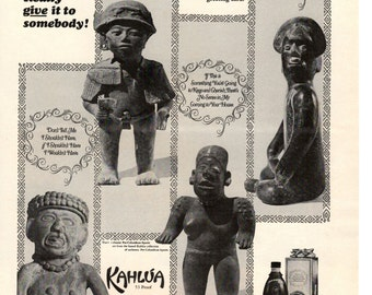 1960s Kahlua and Coffee liqueur vintage magazine ad imported from Mexico wall decor man cave