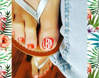 12 SETS! 13 COLORS! Monogram Nail Decals, Personalize your Sunglasses, Lanyards, I-Phone Buttons, & More! Pedicure, Summertime Ready