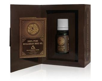 Bulgarian rose oil (Damascena) in craft box 5ml - 10ml/ 0.16 oz - 0.33oz
