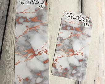 Today Bookmark-Rose Gold Marble