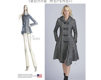 Sz 4/6/8/10/12 - Simplicity Coat Pattern D0550/8262 by LEANNE MARSHALL - Misses' Lined Peplum Coat or Jacket - Simplicity Patterns