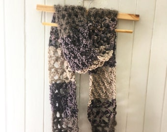 V Knit Textured Scarf