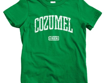 Kids Cozumel Mexico T-shirt - Baby, Toddler, and Youth Sizes - Cozumel Tee, Mexican, Caribbean, Dive - 4 Colors