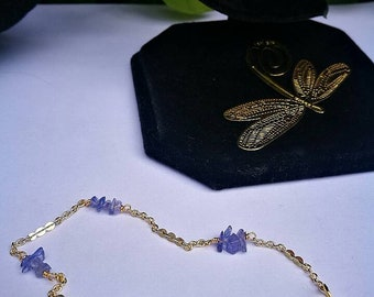 Tanzanite bracelet Gold bracelet