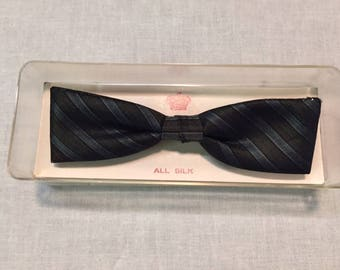 Striped Batwing Bow Tie