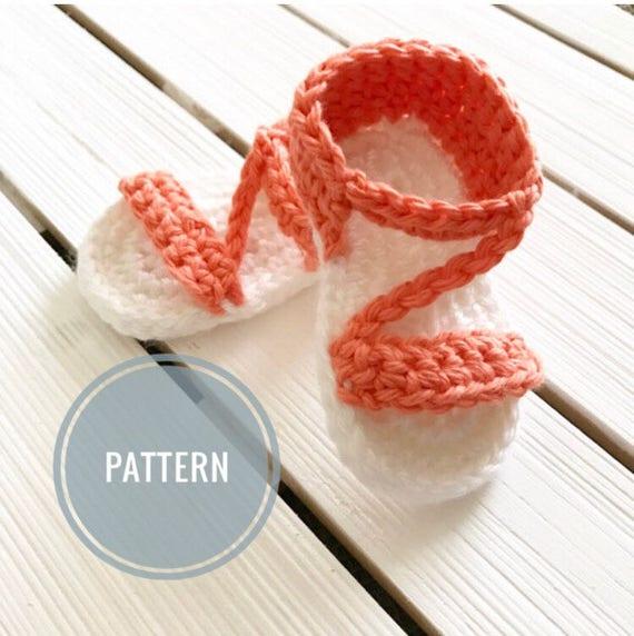 Crochet Sandal Pattern Summer Baby Sandal Pattern Baby
