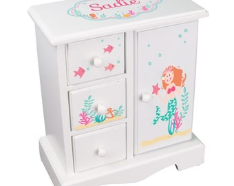 Custom Jewelry Armoire Personalized Girls Jewelry Box