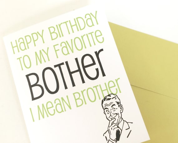 Happy Birthday Card for Brother Brothers Birthday Card