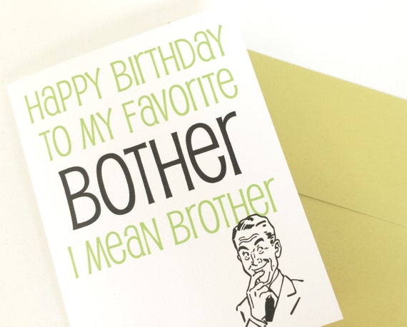 Happy birthday card for brother brothers birthday card m4hsunfo