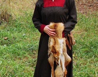 Early Medieval  dress made of wool.  Made for order Viking costume, reconstruction.