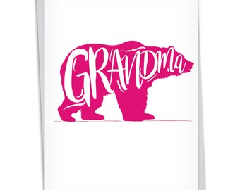 C3462MGG Grandma Bear: Funny Mother's Day Grandma Greeting Card, with Envelope.