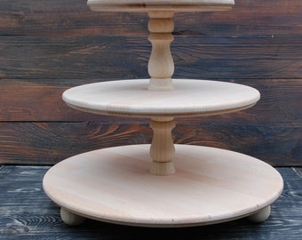 3 tier cupcake stand etsy. Black Bedroom Furniture Sets. Home Design Ideas