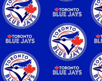 MLB Toronto Blue Jays Fleece Fabric 58/60 inches wide