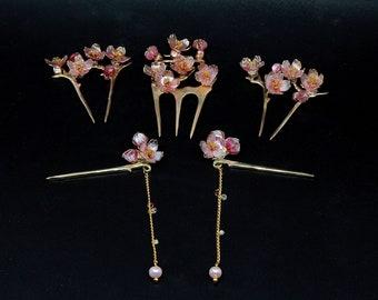 Sakura Blossom Set (Hairpins for BJD) Doll/SD/1/3/MSD/1/4