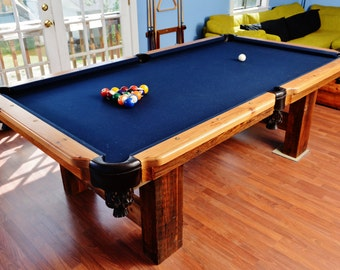 Reclaimed Barnwood Custom 8' Pool Table
