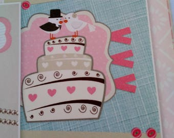 set of 12 pieces for cardmaking 3D creative cardmaking themed wedding, love