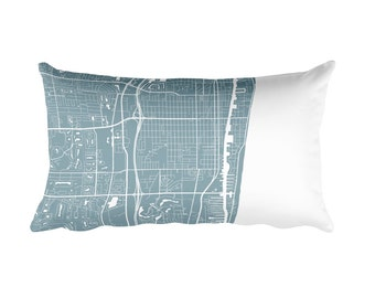 Delray Beach Pillow, Delray Beach Decor, Delray Cushion, Delray Throw Pillow, Delray Gift, Delray Beach FL Map, Delray Beach Art, Throw