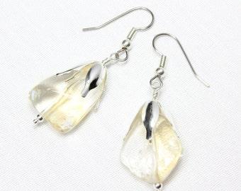 Citrine Nugget Earrings, Natural Gemstone, Chunky Citrine, November Birthstone, Gift for Her