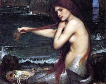 John William Waterhouse: The Mermaid. Fine Art Print/Poster (00848)