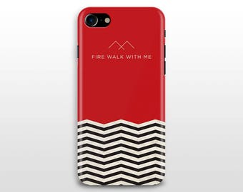 Twin Peaks iPhone 8 case, iPhone X case, iPhone 7 case , iPhone 6 plus, iPhone 5/5s Galaxy S8 S7 S6 case David Lynch Fire walk with me
