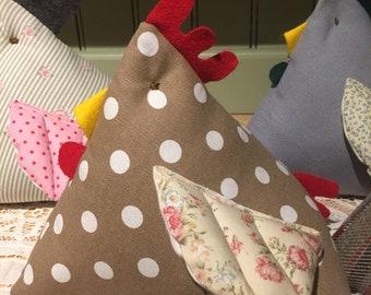 Delightful Polka Dot Spotty 'Fat Hen' Quirky Chicken Doorstop