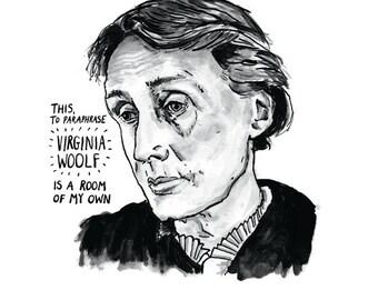 Virginia Woolf poster print Great Writers