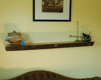 Live Edge Shelf -  No. 2- Thick Oak Mantel