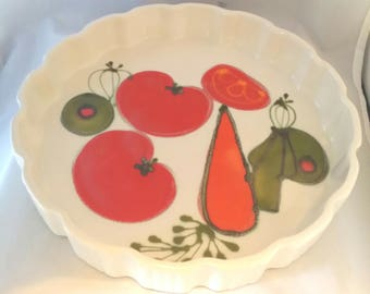 Ardencraft Handmade by Kate tart pan and oblong bowl tomato carrot olive martini cookware kitchen serving pieces