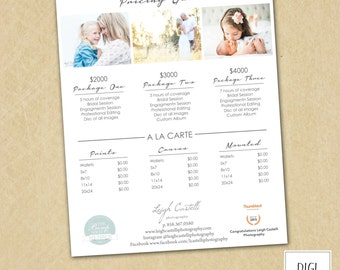 Price List Template Etsy - Price list brochure template