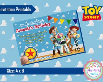 Toy Story Birthday Party Invitation - Printable