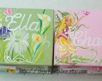 pair of jewelry boxes personalized,gift for sisters,fairies flowers,butterflies,two jewelry boxes,fairy jewelry boxes,girls jewelry box