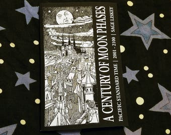 A Century of Moon Phases Lunar Phases Calendar Lunar Book Lunar Astronomy Moon Calendar Lunar Calendar Moon Phases Calendar PST 2001 to 2100