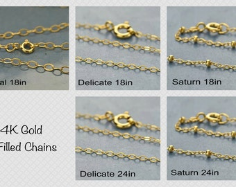 Finished 14K Gold Filled Chains.
