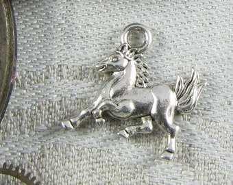 1 or 12, Horse Charm, Galloping Horse, Equestrian, Riding, Pony Charm, Bridle, Horse Head, Horse Pendant, Horse Lover, Wild Horse, ANM025