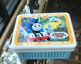 Vintage 1998 Thomas the tank engine Sandwich Foldable Sandwich Box Lunch container