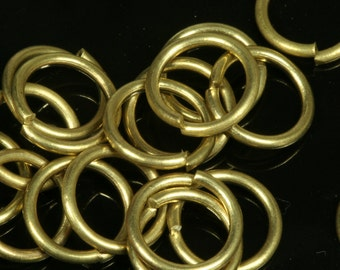 Open jump ring raw brass 4 mm 23 gauge( 0,6 mm ) jumpring 1154R