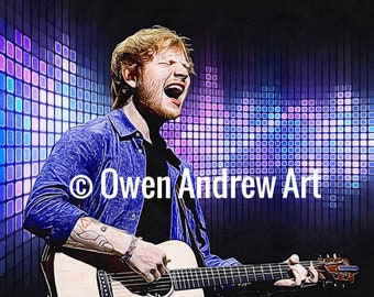 Ed Sheeran Canvas / Wall Art / Digital Art